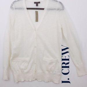 NWT J. CREW Women's Soft Cardigan Sz S, Off White